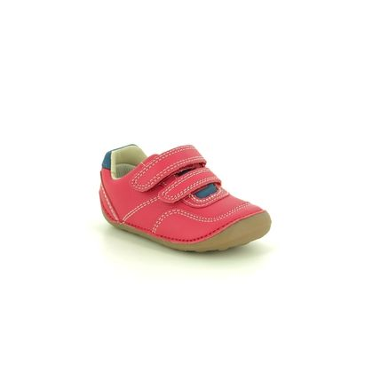 Clarks 1st Shoes & Prewalkers - Red leather - 470056F TINY DUSK T