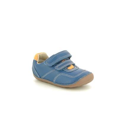 Clarks 1st Shoes & Prewalkers - BLUE LEATHER - 470067G TINY DUSK T