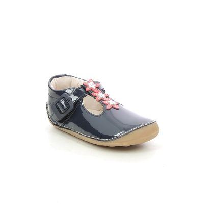 Clarks 1st Shoes & Prewalkers - Navy patent - 625776F TINY FLOWER T
