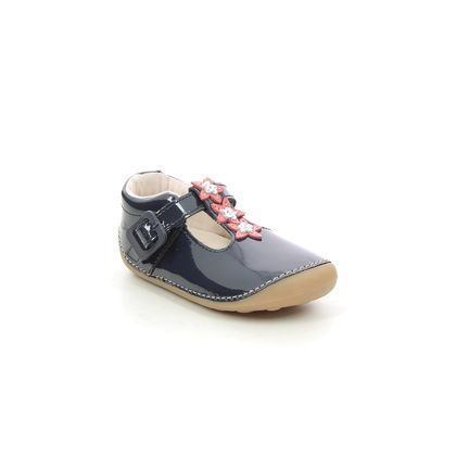 Clarks 1st Shoes & Prewalkers - Navy patent - 625777G TINY FLOWER T