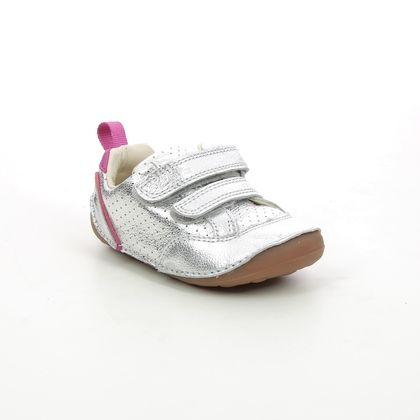 Clarks 1st Shoes & Prewalkers - Silver - 623886F TINY SKY T
