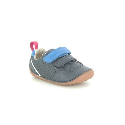Clarks 1st Shoes & Prewalkers - Navy Leather - 576297G TINY SKY T