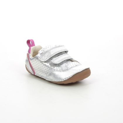 Clarks 1st Shoes & Prewalkers - Silver - 623887G TINY SKY T