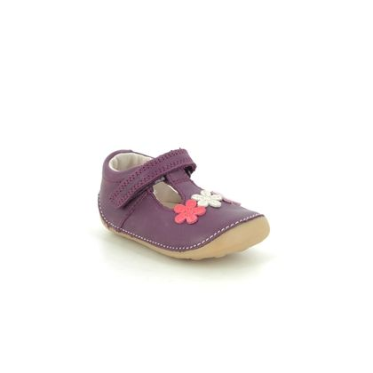 Clarks 1st Shoes & Prewalkers - Berry Leather - 516236F TINY SUN T
