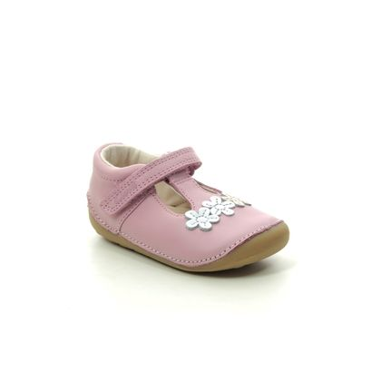Clarks 1st Shoes & Prewalkers - Pink Leather - 506866F TINY SUN T