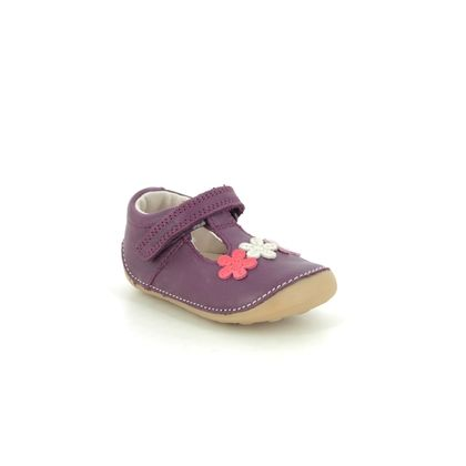 Clarks 1st Shoes & Prewalkers - Berry Leather - 516237G TINY SUN T