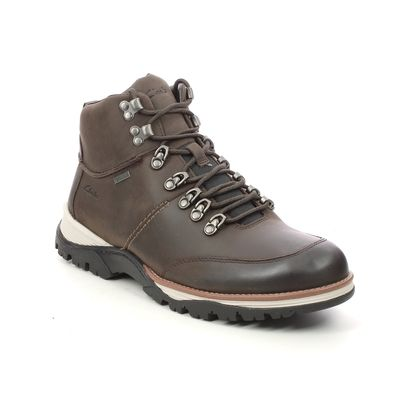 Clarks Outdoor Walking Boots - Brown leather - 612607G TOPTON PINE GTX