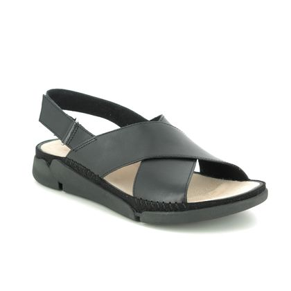 Clarks Comfortable Sandals - Black leather - 479334D TRI ALEXIA