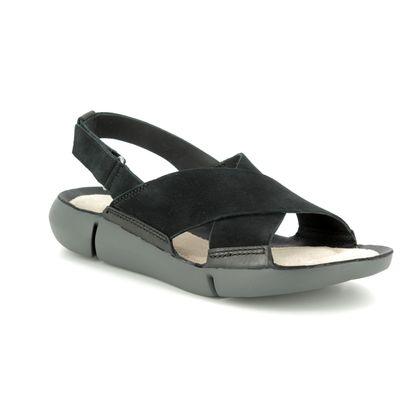 Clarks Comfortable Sandals - Black nubuck - 389484D TRI CHLOE
