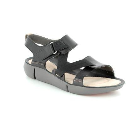Clarks Comfortable Sandals - Black - 3127/34D TRI CLOVER