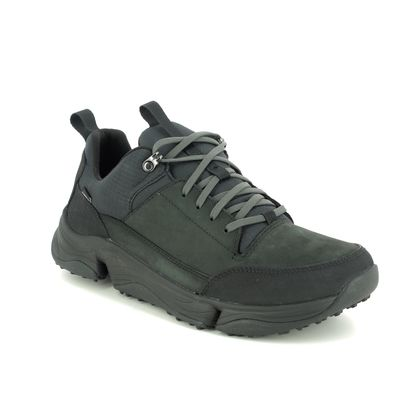 Clarks Walking Shoes - Black nubuck - 483657G TRI PATH WALK