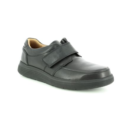 Clarks Casual Shoes - Black leather - 3698/68H UN ABODE STRAP