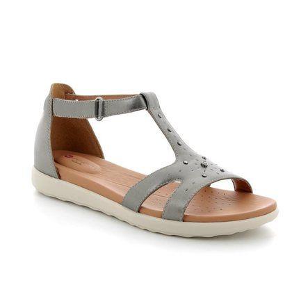 Clarks Comfortable Sandals - Pewter - 3324/34D UN REISEL MARA