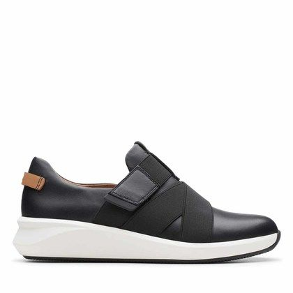 Clarks Trainers - Black leather - 456144D UN RIO STRAP