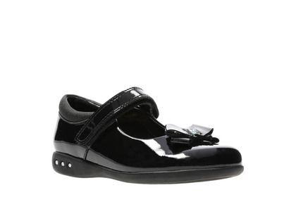 Clarks Girls Shoes - Black patent - 3875/27G PRIME SKIP