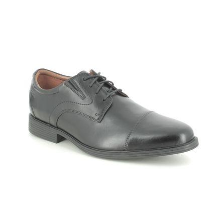 Clarks Smart Shoes - Black leather - 529128H WHIDDON CAP