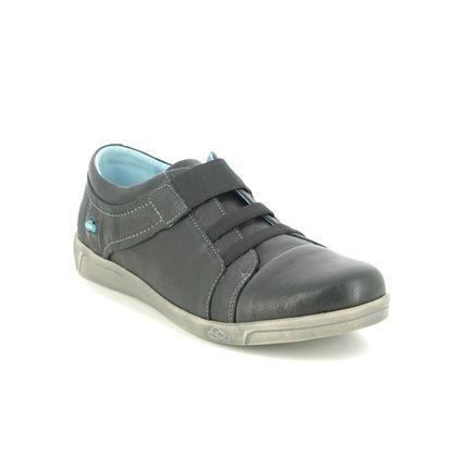 Cloud Footwear Comfort Slip On Shoes - Black leather - 00564/001 ADELIE