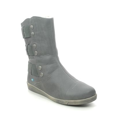 Cloud Footwear Mid Calf Boots - Grey leather - 00342/005 AMBER