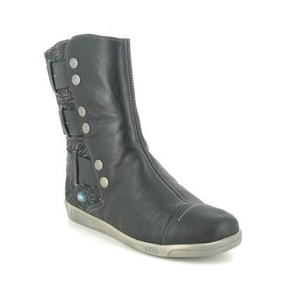 Cloud Footwear Mid Calf Boots - Black leather - 00342/015 AMBER
