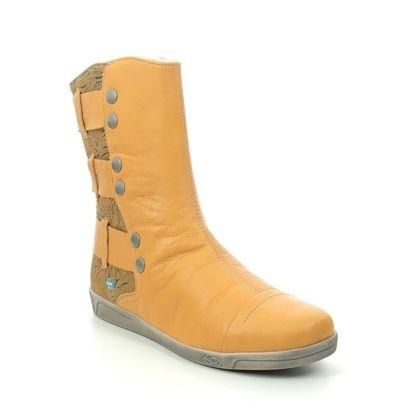 Cloud Footwear Mid Calf Boots - Yellow - 00342/016 AMBER