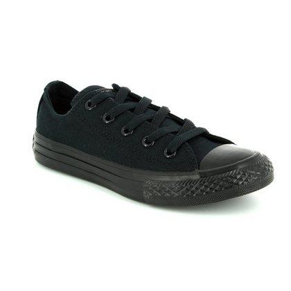 Converse Boys Trainers - Black - 314786C All Star Ox Black Monochrome