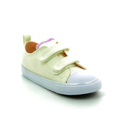 Converse Girls Trainers - White multi - 756041C/102 Chuck Taylor All Star 2V OX Velcro
