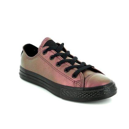 Converse Girls Trainers - Bronze - 358008C Chuck Taylor ALL STAR OX Junior