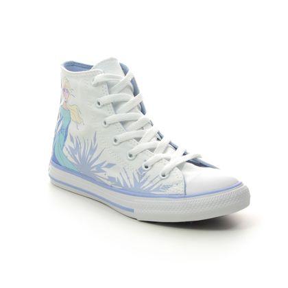 Converse Girls Trainers - White - 667354C FROZEN ELSA HI