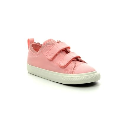 Converse Girls Trainers - Pink - 764369C FRILLY THRILLS INFANT 2V VELCRO