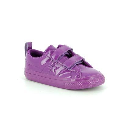 Converse Girls Trainers - Purple - 762523C ONESTAR VEL IN
