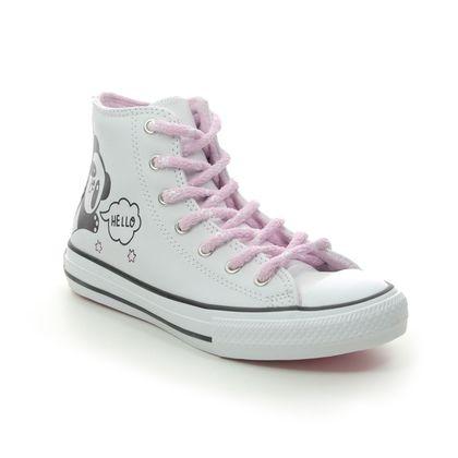 Converse Girls Trainers - White - 669725C/004 PANDA JNR