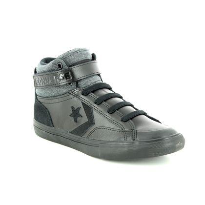 Converse Boys Trainers - Black leather - 662817C PRO BLAZE HI