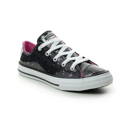Converse Girls Trainers - Black Glitz - 665106C/003 SPARKLE YOUTH