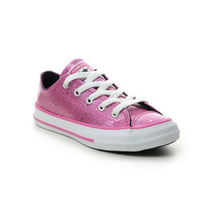 Converse Girls Trainers - Pink Glitter - 665108C/004 SPARKLE YOUTH