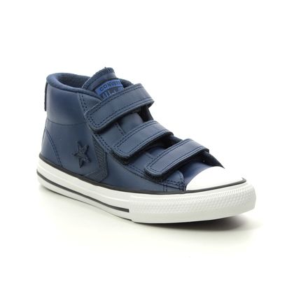 Converse Boys Boots - BLUE LEATHER - 665269C/001 STAR BOOT 3V