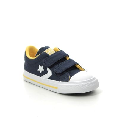 Converse Boys Trainers - Navy Yellow - 766956C/012 STAR PLAYER 2V