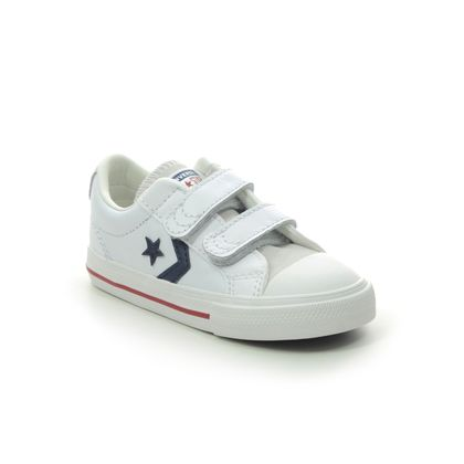 Converse Boys Trainers - WHITE LEATHER - 769707C/013 STAR PLAYER 2V