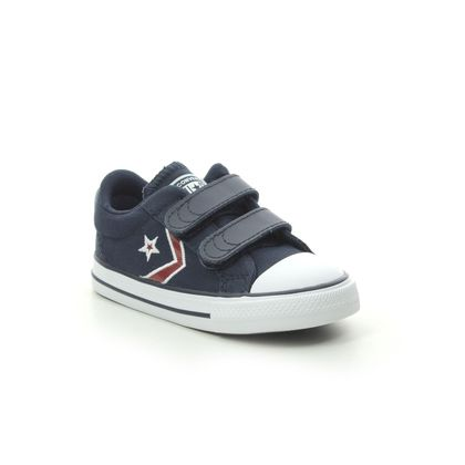 Converse Boys Trainers - Navy Red - 766966C STAR PLAYER 2V
