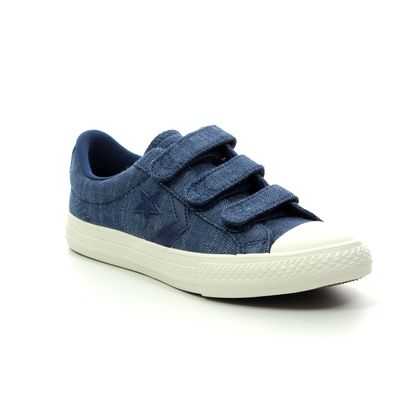 Converse Boys Trainers - Denim blue - 664434C STAR PLAYER 3V VELCRO