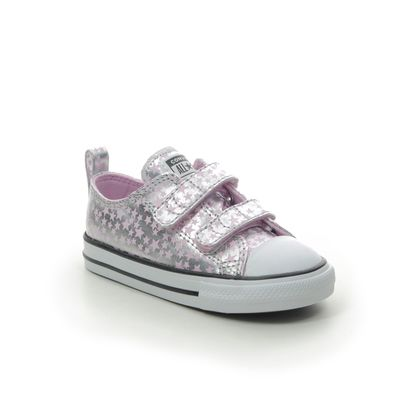 Converse Girls Trainers - Silver - 769706C/007 STARS 2V