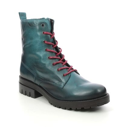 Creator Lace Up Boots - Turquoise Leather - IB20194/94 BABOLACE