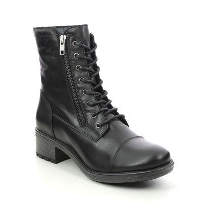 Creator Biker Boots - Black leather - IB20216/30 CRAVE  LACE ZIP