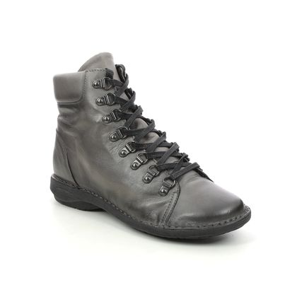 Creator Ankle Boots - Grey leather - IB20272/01 NOTELACE
