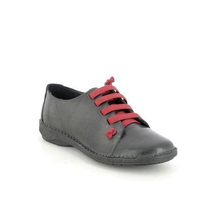 Creator Comfort Lacing Shoes - Dark Grey Leather - IB 1047/04 NOTELLA