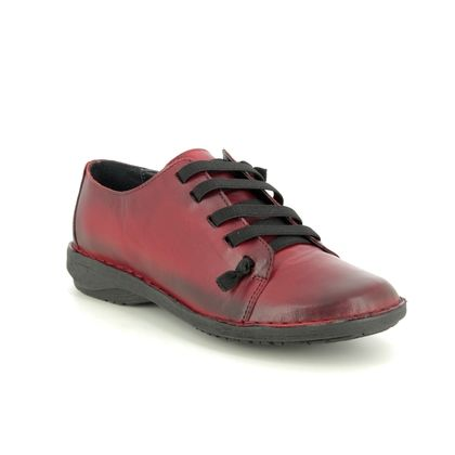Creator Comfort Lacing Shoes - Red leather - IB 1047/80 NOTELLA