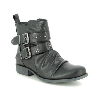 Creator Boots - Ankle - Black leather - IB18328/30 PEEROUT