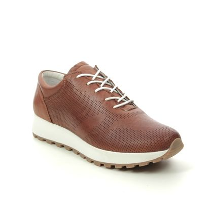 Creator Trainers - Tan Leather - 18287A/20 RIOLACE
