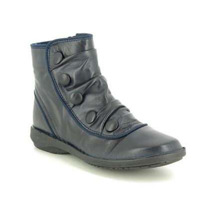 Creator Boots - Ankle - Navy Leather - IB17935/70 SUFFLEBUT