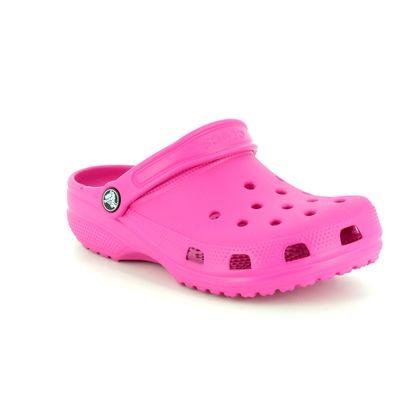 Crocs Girls Sandals - Pink - 204536/6X0 CLASSIC CLOG K