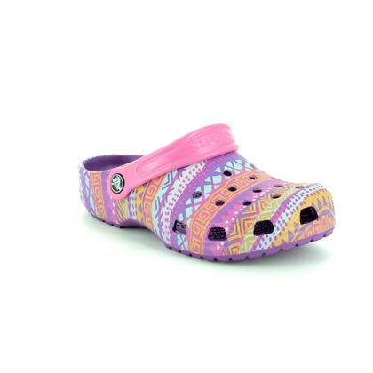 Crocs Girls Sandals - Pink Glitz - 204816/57H CLASSIC GRAPHI